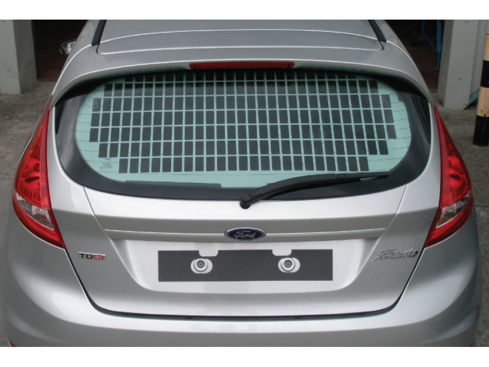 Ford Fiesta Van Tailgate Window Grille 2009 On Van Guard