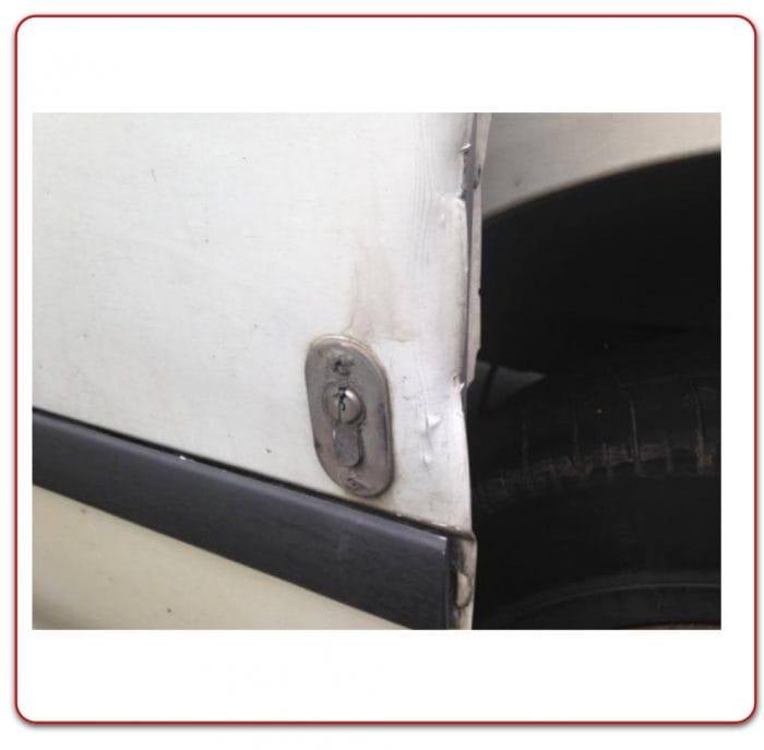 FAULTY VAN DOOR SECURITY LOCK DAMAGED